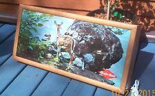 Vintage Grain Belt Beer Brewery Fawn Deer Box Light Sign Wildlife Cabin Decor