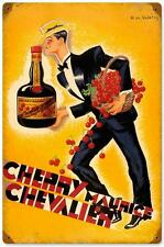 Vintage Cherry Chevalier Brandy Metal Sign Restaurant Advertising Wall Decor 006