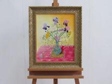 Originale künstlerische Malerei 1970-1989 Blumen