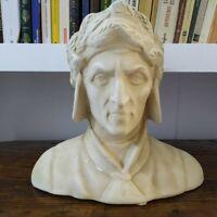 Statua Busto In Gesso Vintage Dante Alighieri