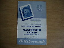 1960/1 Sheffield Wednesday v Manchester United - FA Cup 4th Round