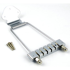 6 String Guitar Tailpiece Trapeze Open Frame Bridge Chrome For Archtop Guitar US