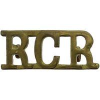 Original WW2 Royal Canadian Regiment RCR of Canada Shoulder Title Badge - JZ56