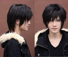 Cool Man  Boys Kylin Hair Wig Mens Male Black Short Hair Cosplay Anime Wigs