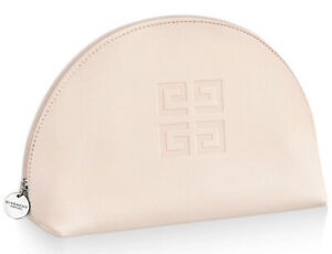 Givenchy logo large COSMETIC MAKEUP BAG POUCH CLUTCH leather light baby pink new