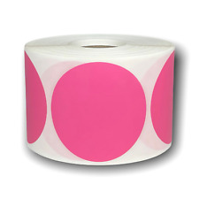 Pink Direct Thermal Shipping Zebra Compatible Labels 2 Round 1 Roll