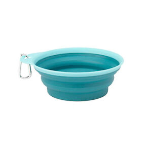 Collapsible Dog Bowl - Travel Water Food Dish - Compact 1.5 Cup