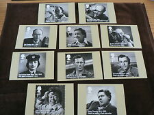 Remarkable Lives, 10 PHQ Stamp Cards 2014, FDI Special H/S Back