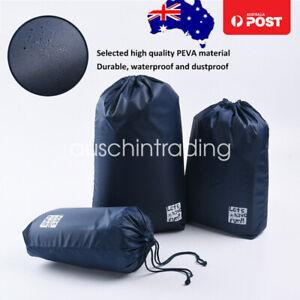 3PCS Travel Pouch Waterproof Laundry Shoe Portable Tote Drawstring Storage Bag