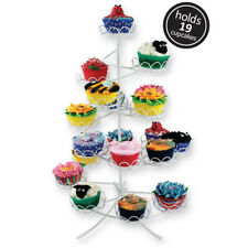 White Coated Wire Cupcake Cake Stand Display Birthday Party Decoration Holds 19