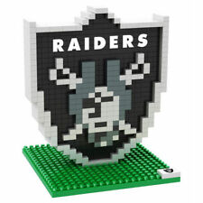 NFL Oakland Raiders 3D BRXLZ Puzzle Logo Set Football