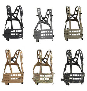 Paintball SPC Molle Tactical Vest Lightweight Chest Rig Quick Release Laser Cut