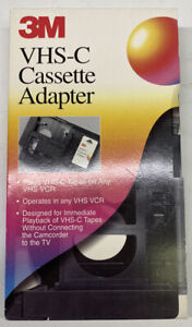 VHS-C Cassette Tape Adapter Scotch 3M Tested Working
