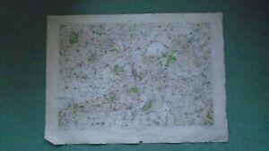 "1"" Ordnance Survey Map Oxford 1912 Abingdon Woodstock Dorchester Brill tramway"