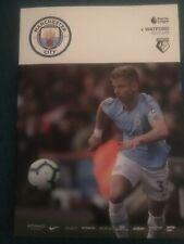 Man City FC v Watford FC Programme (Season 2018-2019)