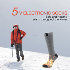 1 PAIRS Qilove  ELECTRIC Winter Warmer Heated Thermal Socks Hunting Fishing Gift
