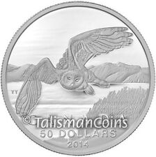 Canada 2014 $50 Commemorative #2 Arctic Snowy Owl Pure Silver Matte Proof