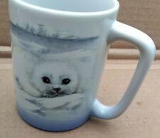 Cute As Can Be Baby Arctic Harp Seal Pups Otagiri Japan Coffee Tea Cup Mug VGC