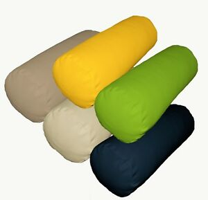 Bolster Cover*A-Grade Cotton Canvas Neck Roll Tube Yoga Massage Pillow Case*La1
