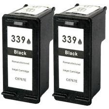 2 No OEM reemplazar para HP 339 Deskjet 5740 5743 Cartuchos de Tinta Negra