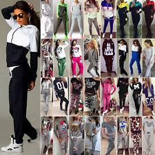 Women's 2Pcs Hoodies Sport Tops Sweatshirt Track Pants Sweat Suits Tracksuit AU