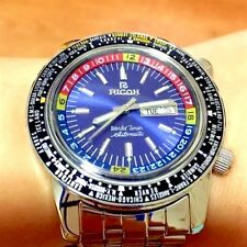 Authentic RICOH WORLD TIMER, 40 Cities,21 Jewels, 44mm, Automatic Mens Watch -