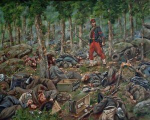 Maritato Signed Civil War Ltd Edition Art Print Culp's Hill Requiem Gettysburg
