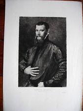 D'APRES ANTONIO MORO -JEAN GALLUS-GRAVURE PAR D.MORDANT - REVUE L'ART 19e