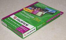 "FUJIFILM Premium Plus Glossy Photo Paper 60 Sheets 4X6""  65lb  NEW NEVER OPENED"