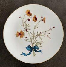 Antique Mintons Aesthetic Movement Porcelain Botanical Cabinet Plate 1870s 1880s