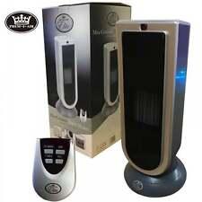 Prem-I-Air 1800W Electric Oscillating Ceramic Tower Fan Heater & Remote Control