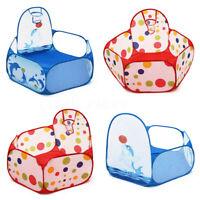 Portable Indoor Kids Baby Children Game Play Tent Ocean Ball Pit Pool
