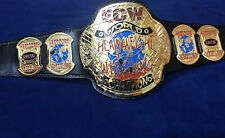 ECW WORLD HEAVYWEIGHT BELT IN 4MM ZINC DEEP ETCHING & 24KT GOLD PLATED !