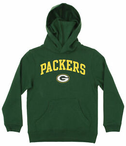 OuterStuff NFL Youth Boys Team Color Fleece Hoodie, Green Bay Packers
