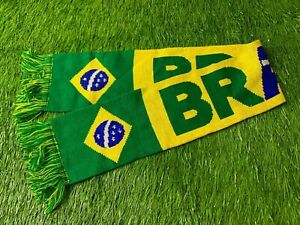 BRAZIL NATIONAL TEAM rare FOOTBALL SOCCER FAN SCARF OFFICIAL LICENSED PRODUCT