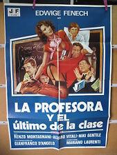 A3422 La profesora y el último de la clase Edwige Fenech, Renzo Montagnani, Alva