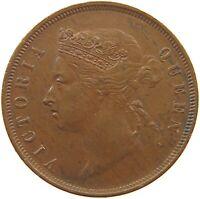 STRAITS SETTLEMENTS 1 CENT 1873 VICTORIA TOP #t138 039