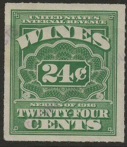 RE 70-SERIES OF 1916 24 CENT WINE REVENUE STAMP--75