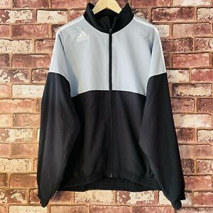 Adidas Track Jacket Mens Large Classic 80s Style Running Sports Top Loose Fit