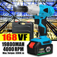 "168VF Cordless Impact Wrench 1/2"" Compact Driver Socket + Li-ion Battery +Box"