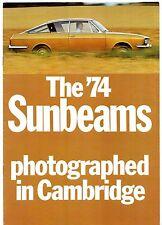 Sunbeam Alpine Rapier H120 Fastback 1973-74 UK Market Sales Brochure Arrow