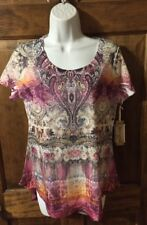 NWT World Unity Size Small Paisley Print Knit Top