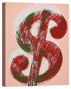 Andy Warhol dollar Stampa su tela Canvas effetto dipinto