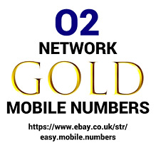 EASY MEMORABLE + GOLD MOBILE PHONE NUMBERS ON O2 PAY AS YOU GO SIM CARD