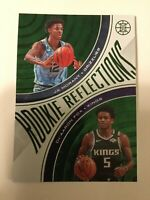 2019-20 Panini Illusions NBA Rookie Reflections EMERALD Ja Morant De'Aaron Fox