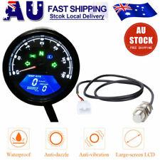 Universal Motorcycle LCD Digital Speedometer Odometer Motorbike Tachometer Gauge