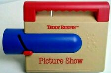 Vintage 1989 Teddy Ruxpin Picture Show Slide Projector Colorful Red, Blue, Brown