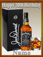 Jack Daniels Whiskey  REAL EDIBLE ICING CAKE TOPPER PARTY IMAGE FROSTING SHEET