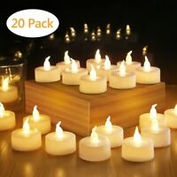 LED Flameless Tea Light Tealight Unscented Home Décor Candles Long Lasting