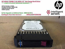 HP MSA2 750GB 7.2K 3.5'' SATA Hot Swap Hard Drive AJ739A / 480941-001